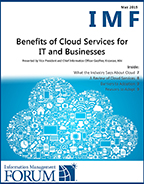 Benefits of Cloud Services for IT and Businesses Report Cover