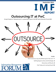 Outsourcing IT at PwC Report Cover